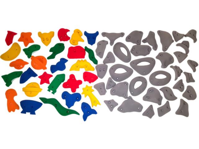 Ergoholds Family Pack Mix Soportes Escalada 60 Soportes, gris/Multicolor